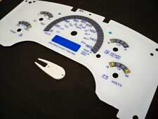 KILOMETER 96-204 GMC Safari Astro Van White Face Glow Through Gauges For Cluster