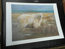 JOEL KIRK LARGE LIMITED EDITION PRINT POLAR BEAR VGC LOW POST