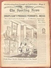 6-11-52 SPORTING NEWS MULLIN ART OF ST. LOUIS BROWNS ROGERS HORNSBY ON COVER