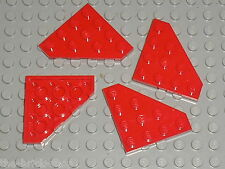4 x LEGO red Plate ref 30503 / set 7931 7665 4892 5892 7885 8111 4953 ...