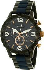 Fossil Men's Nate JR1494 Black Stainless-Steel Quartz Watch