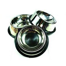 1 x STAINLESS STEEL Standard Pet Dog Puppy Cat Food or Drink Water Bowl Dish