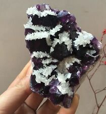 322gNew discovered natural beaut Purple fluorite calcite mineral Specimens