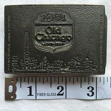 Vintage 1973 Old Chicago Lager Beer Brass Belt Buckle Peter Hand Made In The USA