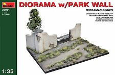 PLASTIC MODEL DIORAMA WITH PARK WALL 1/35 MINIART 36051