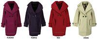 Collection London Ladies Melton Oversized Style Felt Thick Warm Cocoon Coat