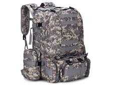 55L ACU Molle Outdoor Military Tactical Bag Camping Hiking Trekking Backpack