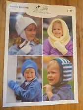 Knitting Pattern: Children's Hats: Snood, Balaclava, Pull-On with Optional Flaps
