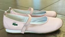 NEW Lacoste Sport Pink Leather Car Mary Jane Shoes Size 9 Medium