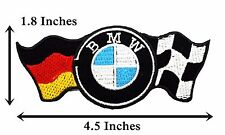 Gฺerman BMW Flag Logo Badge Embroidered Band Car Racing Iron On Patches Jacket