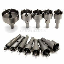 12PCS Stainless Steel Hole Saw Tooth Kit Drill Bit Set Alloy Cutter 15mm - 50mm