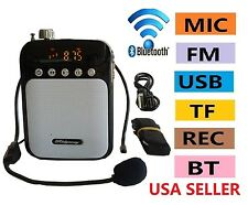 Portable Bluetooth Speaker PA System Headset/Microphone USB/Micro-SD/FM Radio
