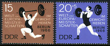 Germany DDR/GDR 856,B143, MNH. Intl. Weight Lifting Championships, 1966
