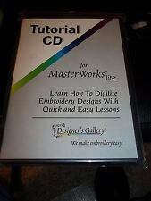 DESIGNER'S GALLERY MASTERWORKS LITE EMBROIDERY SOFTWARE TUTORIAL CD DIGITIZING