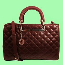 DKNY Gansevoort Bordeaux Quilted/Saffiano Leather LG Shopper Bag Msrp $445
