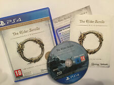 PLAYSTATION 4 PS4 juego The Elder Scrolls Online Tamriel Unlimited Completa Como Nuevo