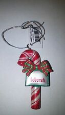 "GANZ CANDY CANE PERSONALIZED CHRISTMAS ORNAMENT ""DEBORAH"""
