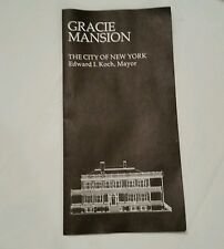 Brochure For The History Of  Gracie Mansion City Of New York Mayor Edward Koch
