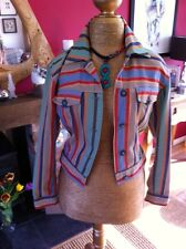 Vintage Moschino Striped Cropped Jacket STUNNING size 12 Designer