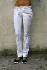 VJC VERSACE JEANS COUTURE LADIES WHITE DENIM SLIM SKINNY STRETCH FIT W27 41 UK10
