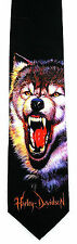 Wolf Harley Davidson Motorcycle Mens Necktie Bike Biker Gift Black Neck Tie New