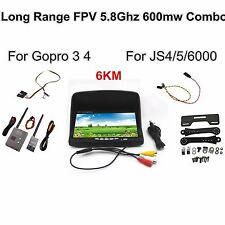 FPV Combo System 5.8Ghz 600mw 5km Transmitter and Receiver for action camera