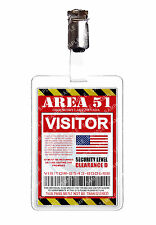 Area 51 Visitor Pass Alien ID Badge Card Cosplay Prop Costume Christmas