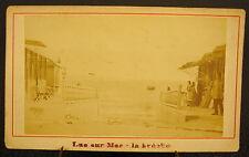 Photo c1900 luc sur mer la brêche Photographie ancienne 10,5 cm