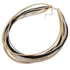 Hot Sell Women Chunky Choker Collar Multi Strands Chain Necklace New