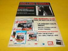 ROLLING STONES - Sticky fingers Marquee club - Publicité de magazine / Advert !!