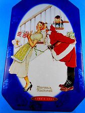"""SNICKERS 6"""" X 9""""  NORMAN ROCKWELL LIMITED EDITION CHRISTMAS CANISTER TIN 2001"""