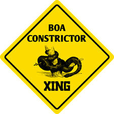 "*Aluminum* Boa Constrictor Crossing Funny Metal Novelty Sign 12""x12"""