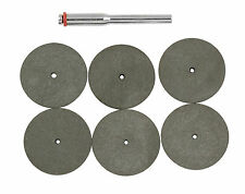 6 Piece Rubber Polishing Disc Set compatible with Dremel Multi Rotary tool Craft