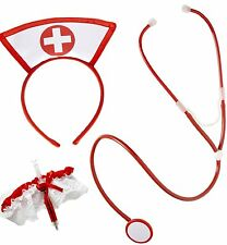 NEW NURSE SET HEN NIGHT PARTY NURSE KIT NURSE HOSPITAL FANCY DRES ACCESSOIRES