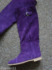 Vero Cuoio ( Italian) women's knee length boots, size 4,suede, purple, brand new
