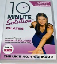 10 MINUTE SOLUTION PILATES DVD WORKOUT FITNESS ABS FLEXIBILITY