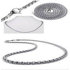 """2MM Silver 20"""" Stainless Steel Pearl Chain Necklace Fashion Pendant Gift"""