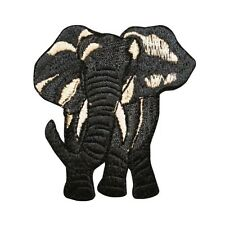 ID 0689 Wild Zoo Animal Elephant Embroidered Iron On Applique Patch