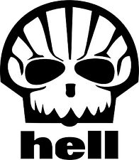 HELL SHELL LOGO car graphic JDM VW VAG EURO Vinyl Decal Sticker Skate
