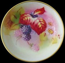 Beautiful Small Royal Worcester Fruit And Leaves Dish / Tray By A Davis - c1955