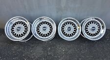 "Bbs rs 5x112 16"" 8/10J mercedes W126 sec sel alloy wheels deep plats maille"