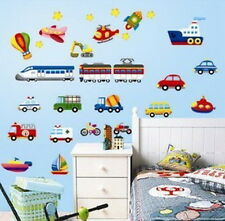 Plane ship car Transport Removable Wall Stickers Decals Decor kids nursery mural