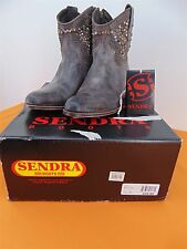 Sendra 8602 Studded Distressed Look Women's Brown ANKLE BOOT  Sz 9  New in Box