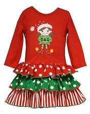 New Girls Bonnie Jean sz 24m Red Green ELF Dress Party Holiday Christmas Clothes