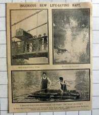 1915 Ingenious New Life-saving Raft British Empire Deck Seat Raft