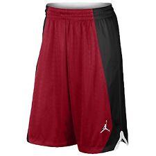 Jordan NIKE FLIGHT KNIT Basketball Shorts men XL NWT RED BLACK 820645