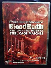 WWE BLOOD BATH STEEL CAGE MATCHES~2 DVD SET~HULK HOGAN RIC FLAIR THE ROCK