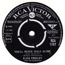 EX/EX ELVIS PRESLEY: YOU'LL NEVER WALK ALONE b/w WE CALL ON HIM (RCA 1747) VINYL