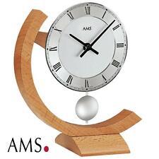 AMS Tischuhr 163 Quarz Pendel massiv Buche Pendeluhr Stiluhr Tischpendeluhr NEU