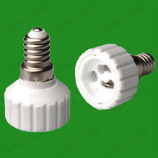 10x Small Screw SES E14 To GU10 Light Bulb Adaptor Lamp Socket Converter Holder